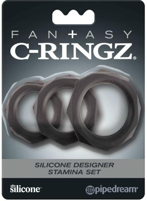 C-Ringz Set Black Silicone Rings