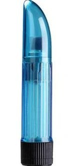 Crystal Clear Vibrator Blue