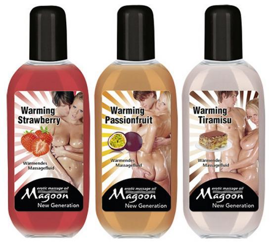 Magoon Warming Set sada tří masážních olejů