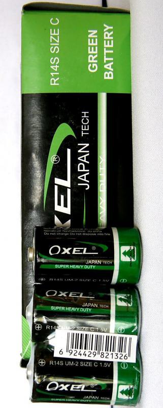 Baterie malé monočlánky R14 -Oxel