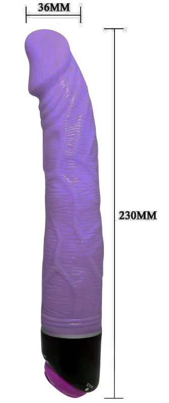 Baile Adour Club Realistic Vibrator Purple