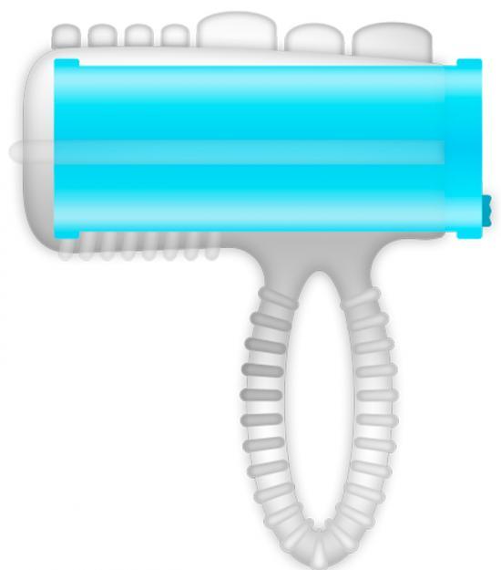 Casual Ring Tongue Vibrating Blue