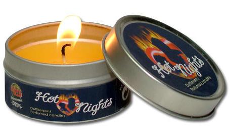 Aromatická svíčka v kovové krabičce