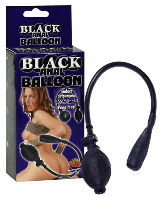 Nafukovací anální kolík Black anal Baloon