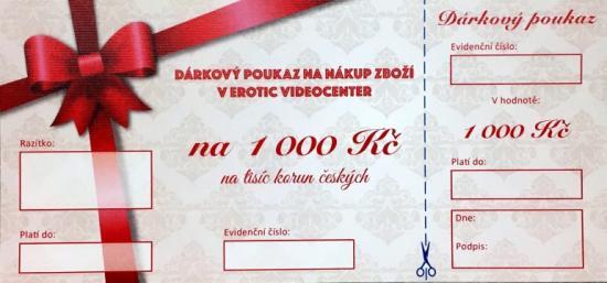 Dárkový poukaz - Voucher na nákup zboží v hodnotě 1000 Kč