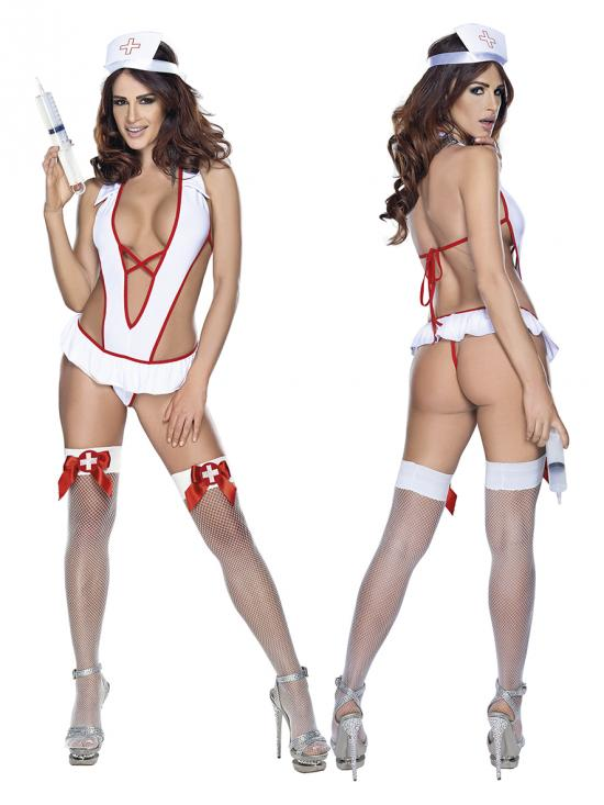 Nurse costume white vel. L-XXL