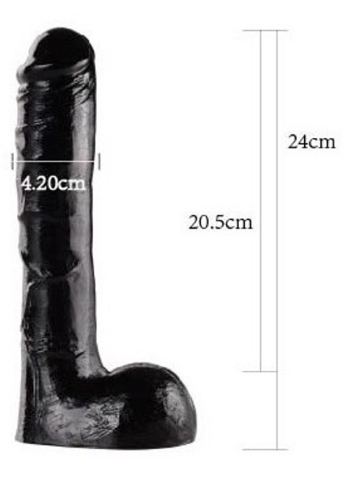 BLACK DIAMOND DILDO 22, 9.5
