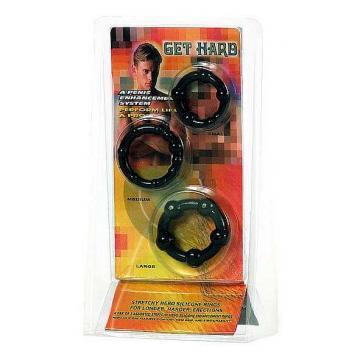 Kroužky na penis černé - 3 kusy