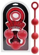 Anální kuličky O Beads Giant Balls red