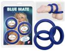 3 blue silicone rings