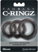 C-Ringz Set Black Silicone Rings