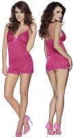 Mini dress string pink vel. XL - mini šaty