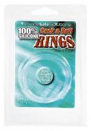 Cock and Ball Rings - hladký silikonový kroužek