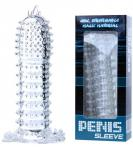 CLEAR CRYSTAL PENIS SLEEVE SPIKED
