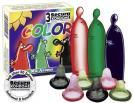 Barevné kondomy s 3 druhy příchutí Secura Color 3ks