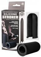Silicone Stroker Black-Malý černý masturbátor