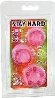3 erekční kroužky silikonové Stay Hard