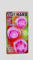 Kroužky na penis růžové - 3 kusy