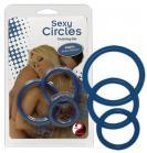 Tři erekční silikonové kroužky