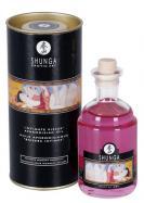 Jedlý afrodiziakální olej Shunga Champagne Strawberry 100 ml