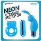 Neon Kit De Placer Para Parejas Azul
