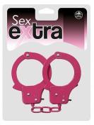 Sex Extra Metal Cuffs - kovová pouta pastelově růžová