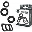 Addicted Toys Cock Ring Set 4 Pieces