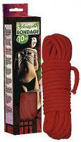 Červené bondage lano 10m