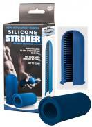 Silicone Stroker Black Bleu - malý modrý masturbátor