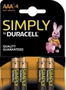 Duracell Simply Alkaline Battery  Aaa Lr03