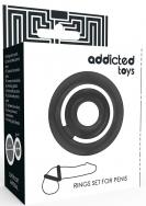 Addicted Toys Potenz C-Ring Penis Black