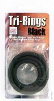 Tři černé pryžové erekční kroužky