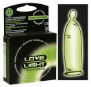 Tři kusy ve tmě svítících kondomů