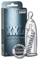 Velké neparfemované kondomy XXL 12 ks