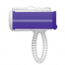 Casual Ring Tongue Vibrating Purple