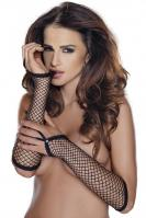 Fishnet gloves black - sexy síťované rukavice